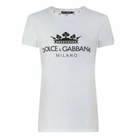Dolce and Gabbana Logo Crown T Shirt