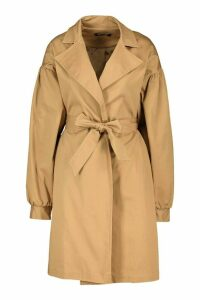 Womens Extreme Sleeve Trench Coat - beige - 16, Beige