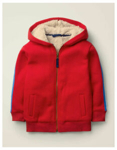 Cosy Shaggy-lined Hoodie Red Women Boden, Red