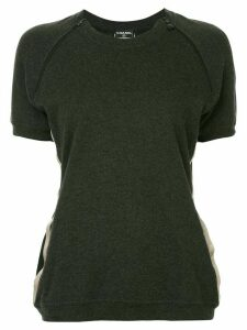Chanel Pre-Owned Chanel CC short sleeve top - GRAY, BEIGE