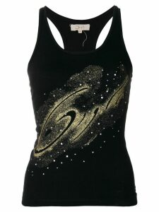 Romeo Gigli Pre-Owned glittery detail tank top - Black