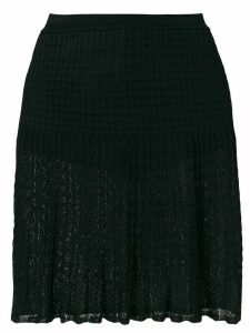 Alaïa Pre-Owned pleated lace skirt - Black