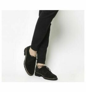 Office Kennedy Lace up Shoes BLACK SUEDE