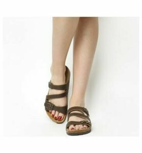 Office Bounty Cross Strap Footbed BROWN LEATHER
