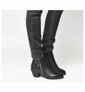 Office Anita Side Zip Western Mid Boot BLACK
