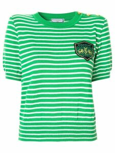 Yves Saint Laurent Pre-Owned knitted striped top - Green