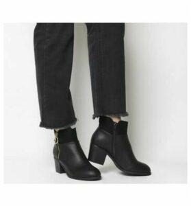 Office Amara- Zip Detail Ankle Boot BLACK MIX