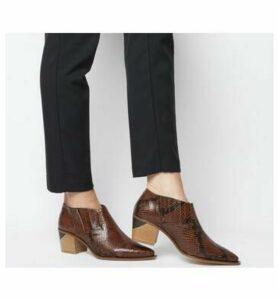 Office Madrina- Western Shoe TAN SNAKE