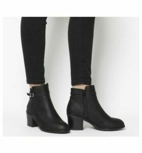 Office Attract-ankle Strap Boot BLACK