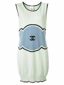 Chanel Pre-Owned 2009 cashmere cloud motif dress - Multicolour