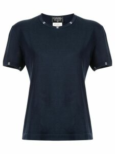 Chanel Pre-Owned CC embroidered T-shirt - Blue