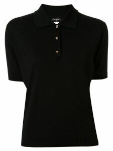 Chanel Pre-Owned 1996 slim-fit polo shirt - Black