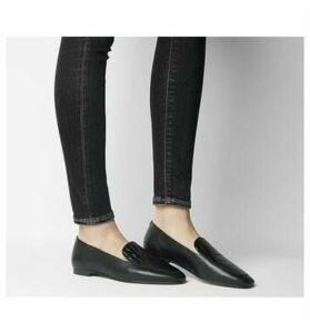 Office Fantasy Square Toe Loafer BLACK LEATHER  CROC