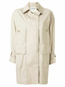 Chanel Pre-Owned loose fit coat - NEUTRALS
