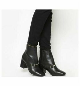 Office Ambition Snaffle Ankle Boot BLACK LEATHER
