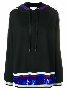 No Ka' Oi stripe and sequin detail hoodie - Black