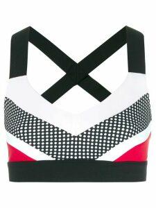 No Ka' Oi colour block cropped top - Black