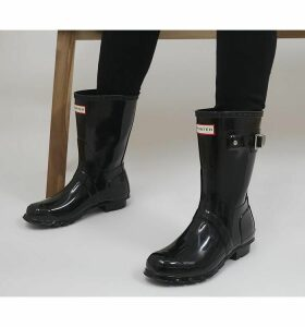 Hunter Womens Original Short Gloss BLACK GLOSS