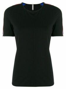 No Ka' Oi stripe trim sports T-shirt - Black