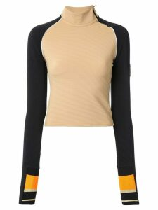 P.E Nation colour-block long sleeve top - Brown