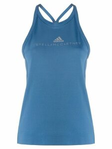 adidas X Stella McCartney logo tank top - Blue