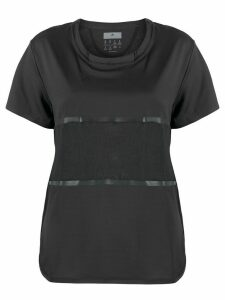 adidas by Stella McCartney paneled T-shirt - Black