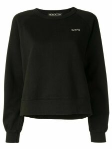 Monogram Bullshit slogan sweater - Black