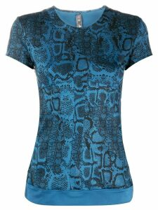 adidas X Stella McCartney snakeskin-print T-shirt - Blue