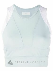 adidas X Stella McCartney running crop top - Blue