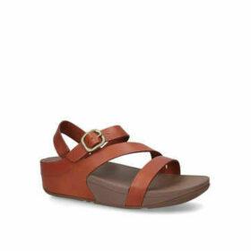 Womens The Skinny Z-Cross Sandal Summer Fitflop Tan, 7 UK