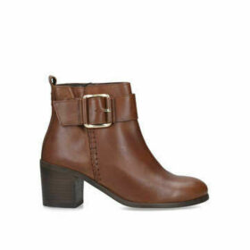 Womens Dover Flat Ankle Boots Solea Tan, 3.5 UK
