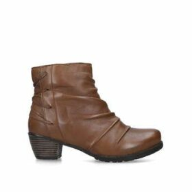 Womens Fortune Mid Heel Ankle Boots Lotus Tan, 7 UK
