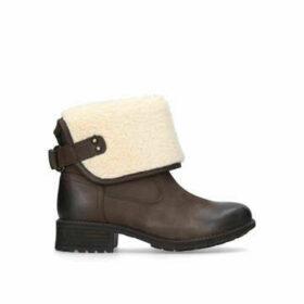 Womens Aldon Ankle Boots Ugg Dark Brown, 3 UK