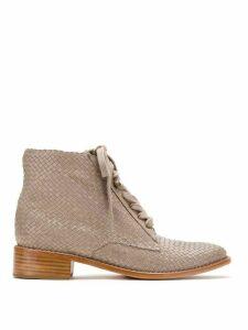 Sarah Chofakian leather boots - Grey