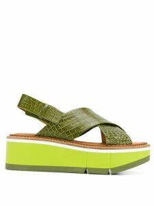 Clergerie criss-cross strap sandals - Green