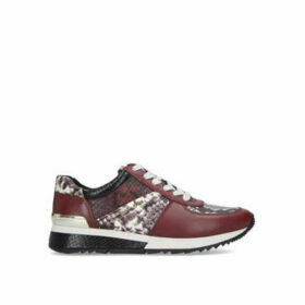 Womens Michael Michael Kors Allie Wrap Trainerallie Wrap Trainer Sneakers Michael Michael Kors Brown Leather/Other Print, 6 UK