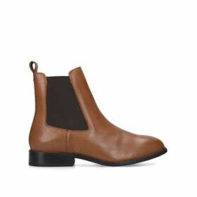 Womens Rest Ankle Boots Carvela Comfort Tan Flat Chelsea Ankle Boot, 5 UK