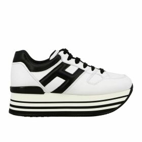 Hogan Sneakers Hogan 283 Leather Sneakers With Big H And Maxi 222 Platform Sole
