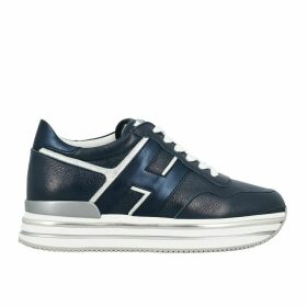 Hogan Sneakers 468 Mignon Hogan Leather Sneakers With Big H And Glitter Piping
