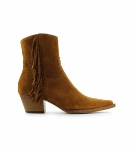 Pinko Brown Zenzero Fringes Ankle Boot