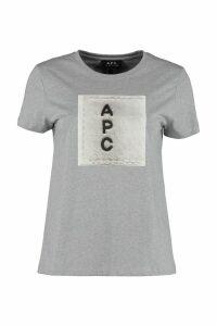 A.P.C. Logo Print Cotton T-shirt