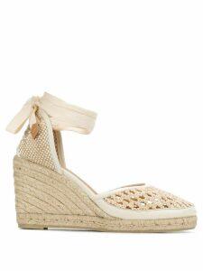 Castañer Carina crochet wedge espadrilles - NEUTRALS