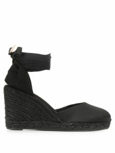 Castañer Carina lace up espadrilles - Black