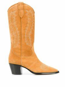 Paris Texas stitch detail Texan boots - Yellow