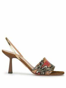 Aquazzura Leigh 70mm slingback sandals - Brown