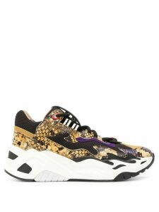 Just Cavalli platform snakeskin effect sneakers - Black