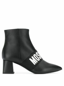 Moschino logo band ankle boots - Black