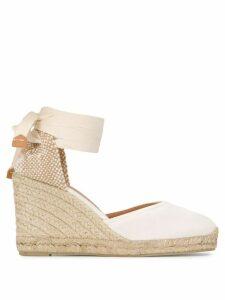 Castañer high wedge heel espadrilles - White
