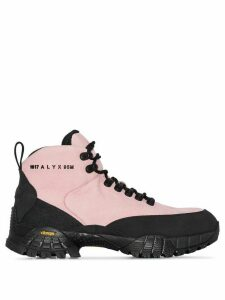 1017 ALYX 9SM logo-embossed leather hiking boots - PINK