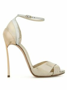 Casadei metallic high heel sandals - GOLD